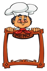 Imã de geladeira chef menu