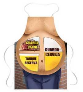 Avental para churrasco Barriga guarda cerveja