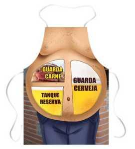 Avental criativo Barriga guarda cerveja
