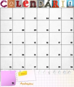 Lousa Magnética calendário