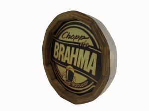 QUADRO BARRIL DECORATIVO CHOPP DA BRAHMA