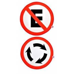 Jogo Americano Proibido estacionar e rotatória