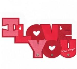 Porta Chave e Bijoux I Love You