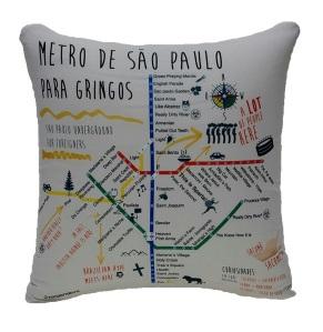 Almofada criativa metrô