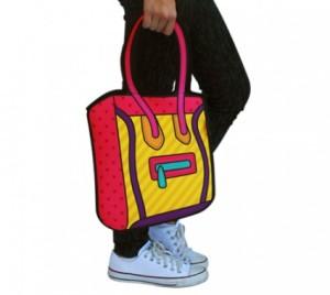 Bolsa 3D Taylor Amarela com alça Rosa