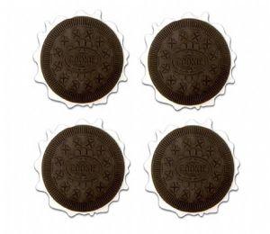 Porta copos cookie com 4 unidades