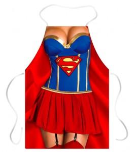 Avental criativo super mulher