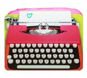 Bandeja notebook máquina de escrever