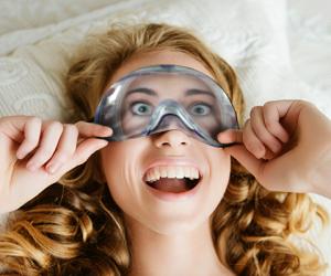 Máscara de dormir mergulho