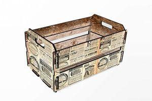 Mini caixote jornal francês