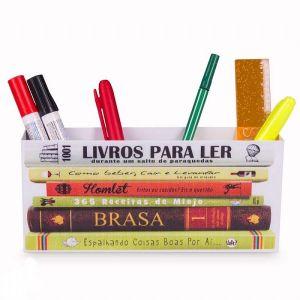 Porta objetos livros