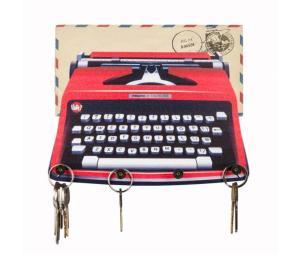 Porta chaves e cartas máquina de escrever