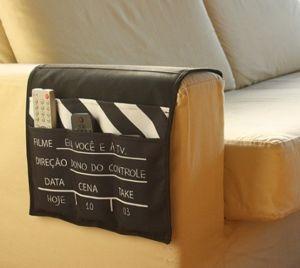 Porta controle remoto sofá claquete