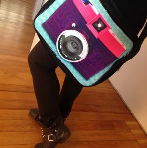 Bolsa transversal câmera fotográfica