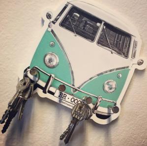 Porta chave kombi verde
