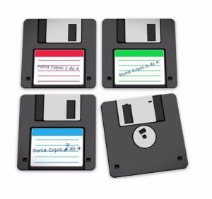 porta copos disquete 1